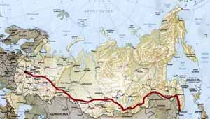 Карта транссибирской магистрали